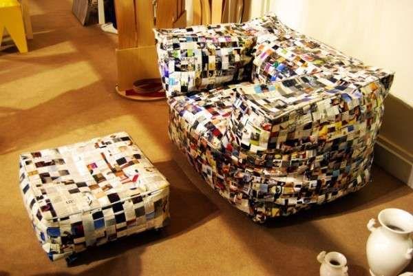 Riciclo creativo con la carta arredo di carta riciclata for Carta d arredo