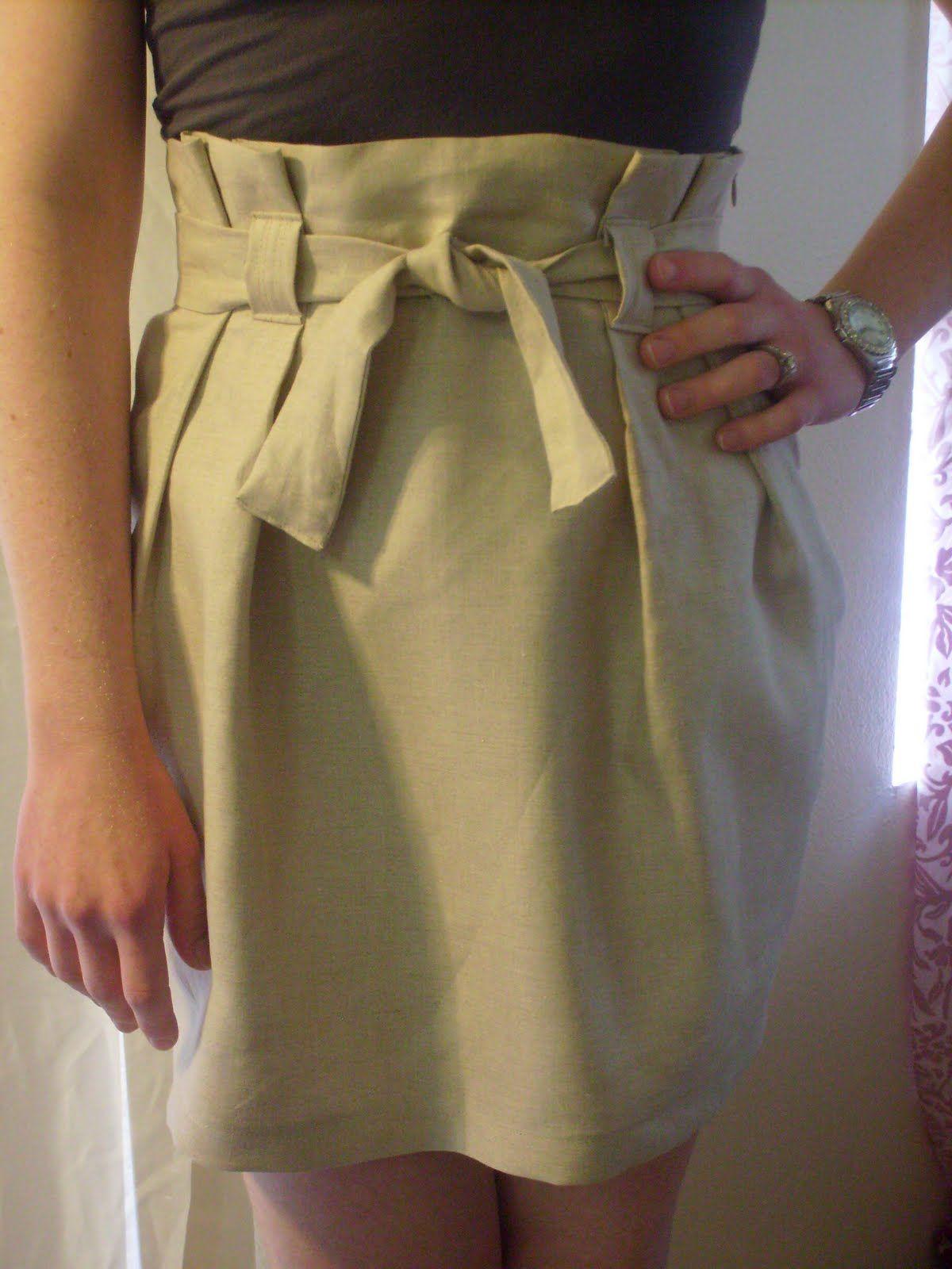 Long-awaited paper bag waist skirt TUTORIAL! | Pinterest ...