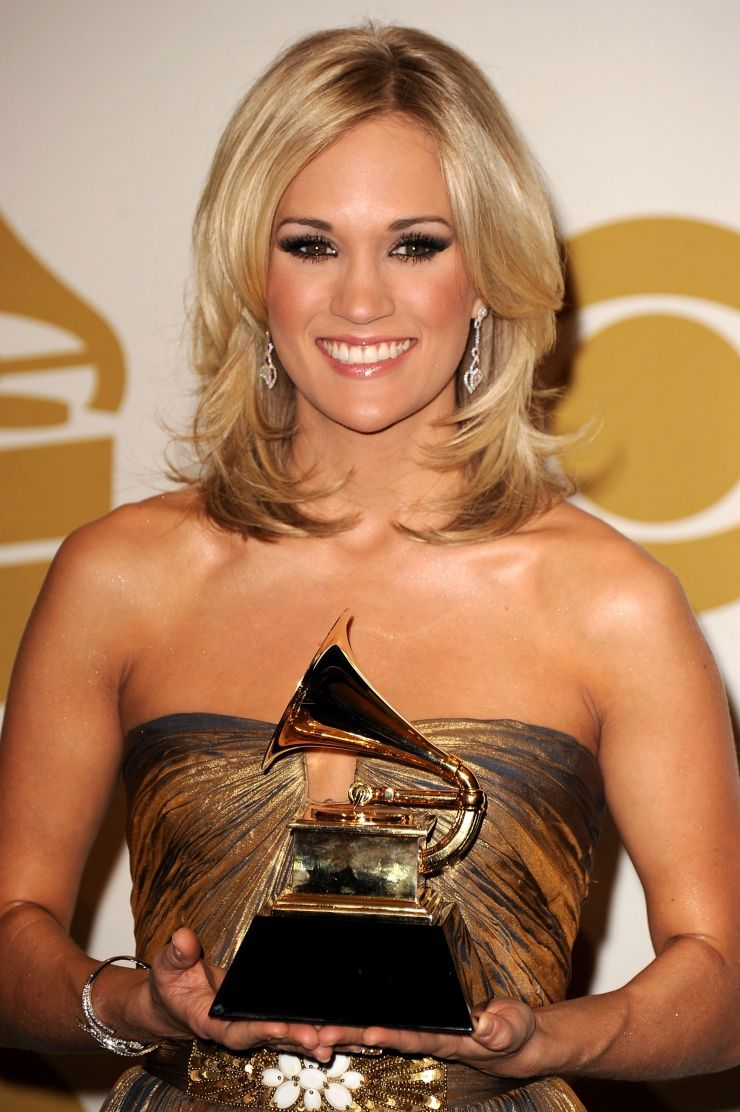 Carrie Underwood backstage at the 52nd Annual GRAMMY ...