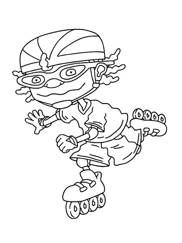 rocket power coloring pages color me pretty young ones