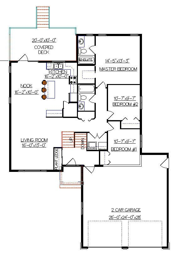 Bi Level Deck Home Design Ideas Pictures Remodel And Decor: Bi-Level House Plan With A Bonus Room 2011552 By E-Designs