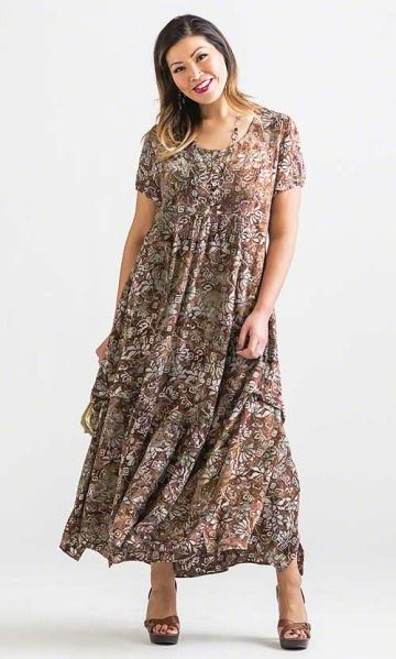 Ebony batik maxi dress | Plus size outfits, Plus size ...