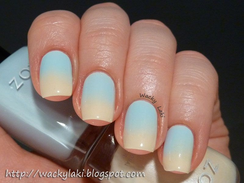 Wacky Laki: Gradient with Zoya Nail Polish in Blu & Zoya Jacqueline