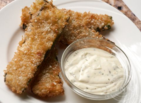 Crispy Zucchini Fritte with Lemon Aioli