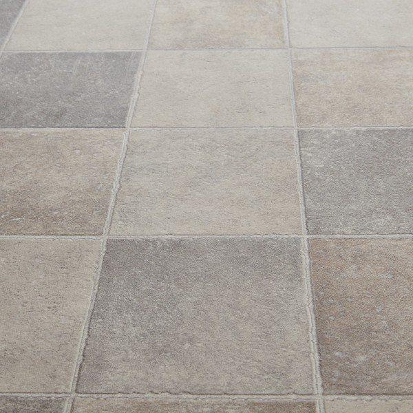 Floorgrip 592 pompei stone tile effect vinyl flooring for Carpetright bathroom lino