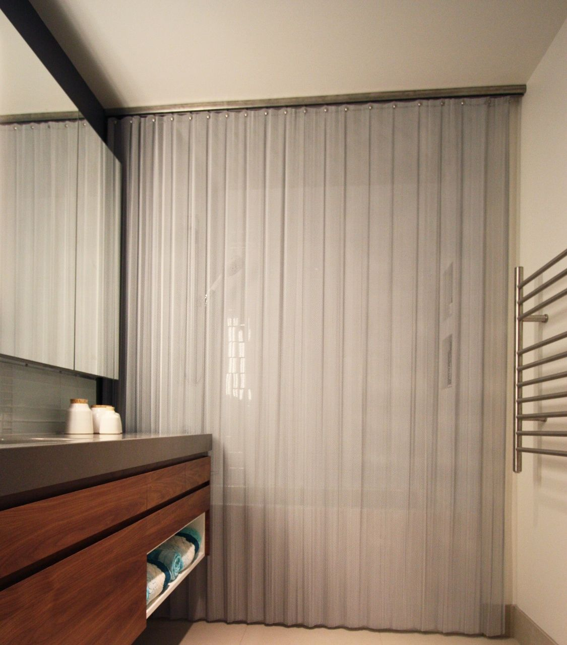 Cascade Coil Offers Beautiful Custom Made Woven Luxury Shower Curtains In A Variety Of Weave Sizes Fullness And Finish Options