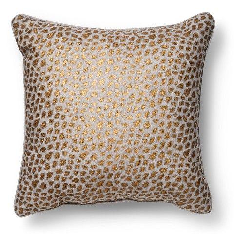 Metallic Cheetah Print Throw Pillow