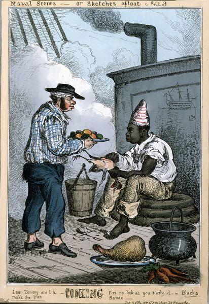 1831) Naval Scenes, Steward and Cook. Black sailor | Seaman, 18th century,  Naval history