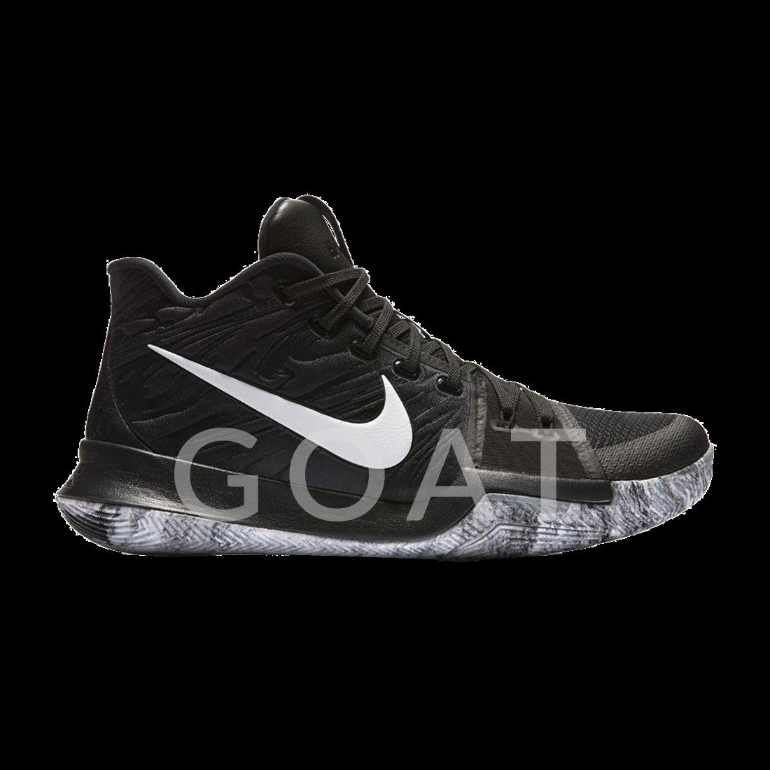 best service 56dd1 0e4db Kyrie 3  BHM  - Nike - 852415 001 - Black Metallic Gold-White   GOAT