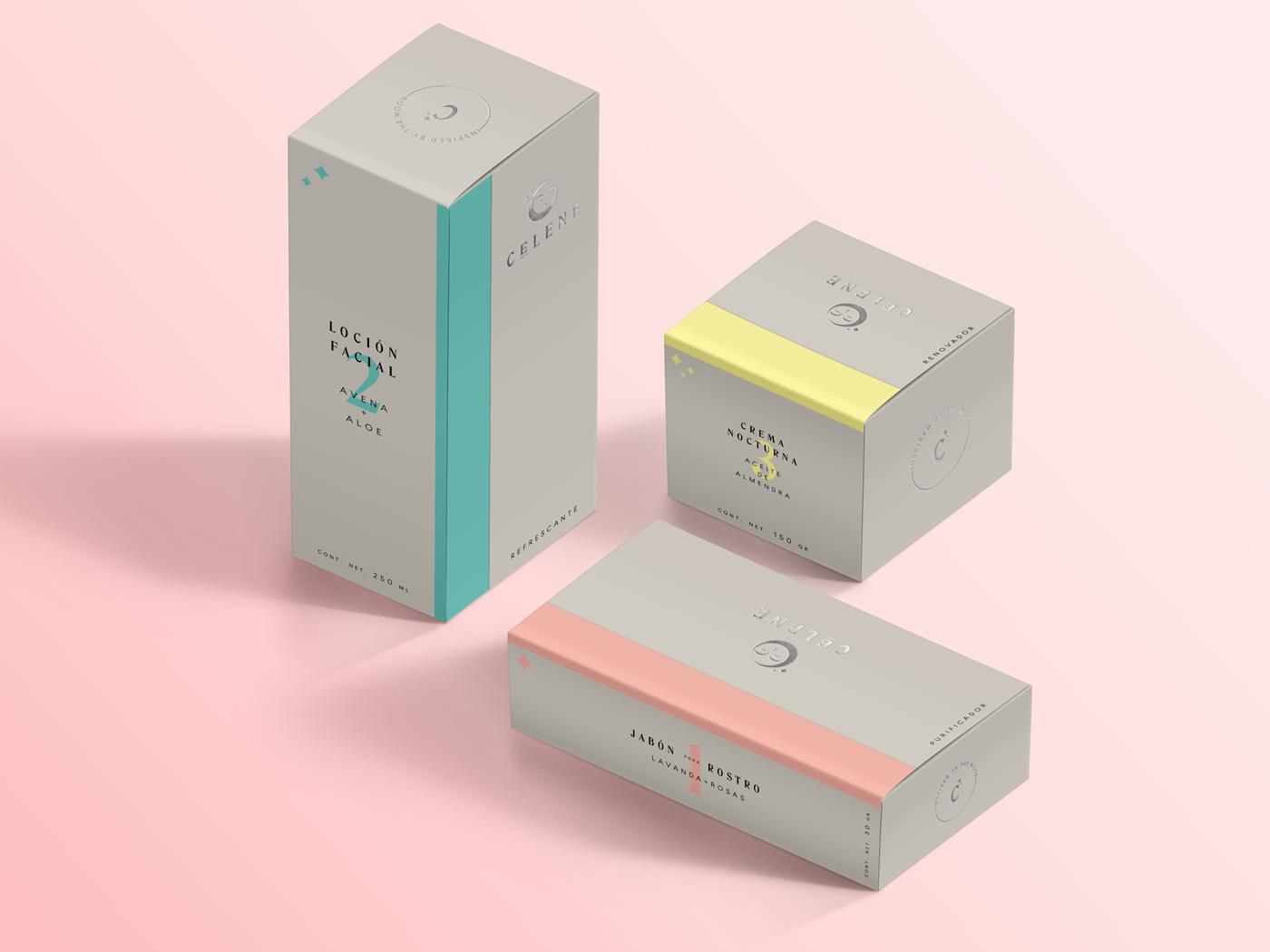Célene packaging by Enrique Larios and Cursi Estudio