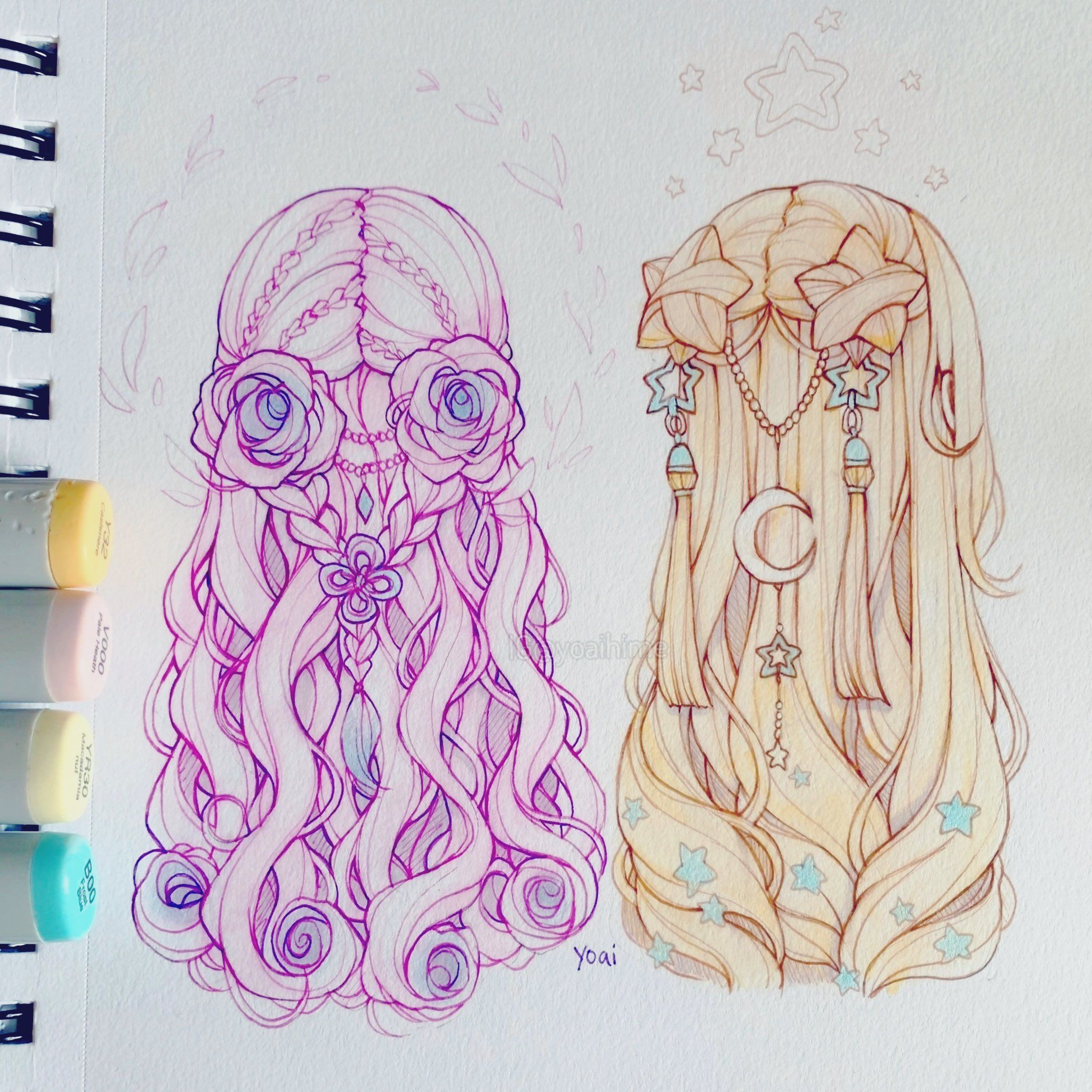 Photo of Flower hair…or star hair? ?⭐ By Yoai ✨ಠωಠ✨ @Yoaihime on Twitter