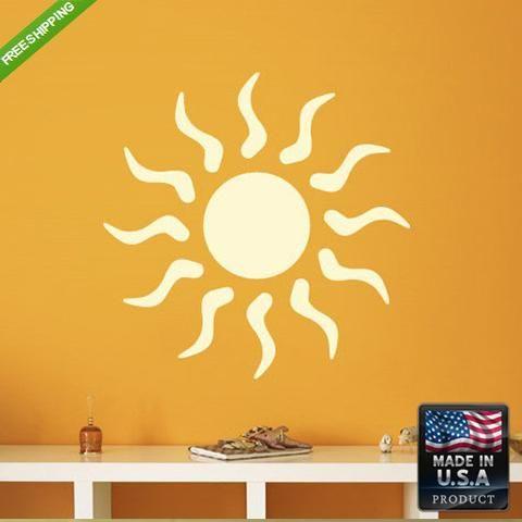 Best Wall Vinyl Decal Decal Sticker Beautiful Sun Bedroom Decal 400 x 300