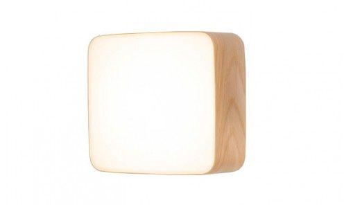Applique murale design scandinave cube cadre chêne bouleau ou