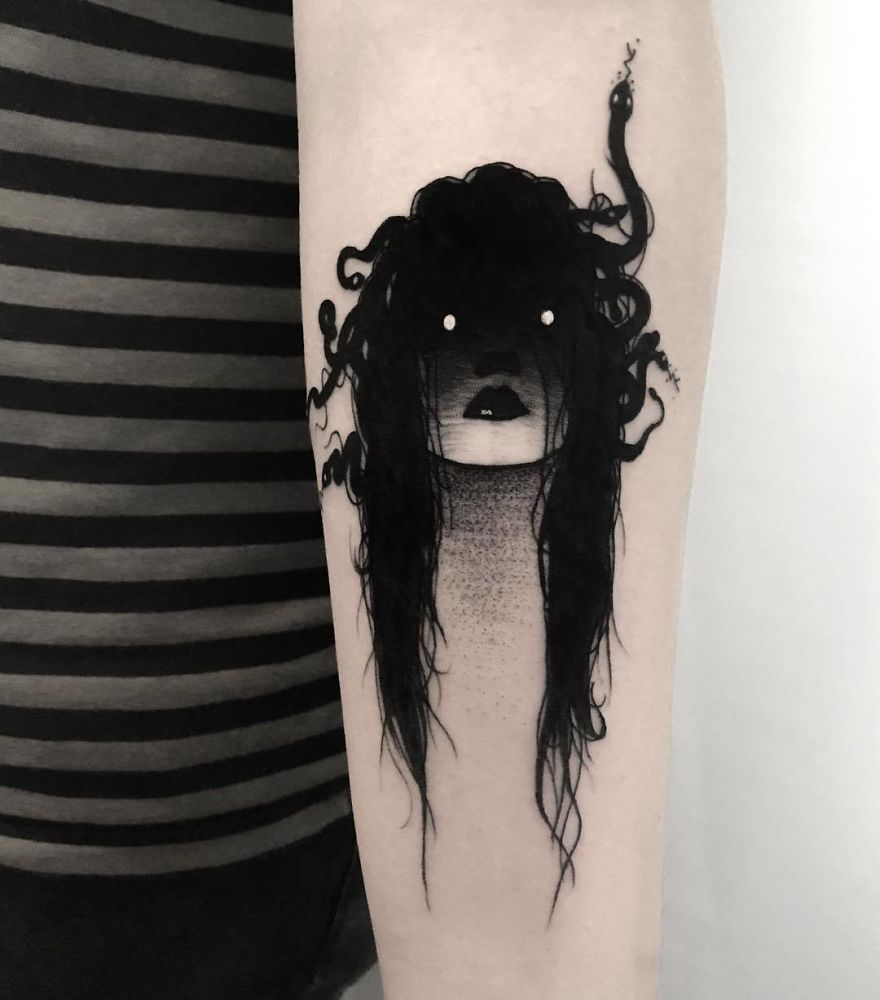 Black tattoo cover up ideas  slightly erotic tattoos of faceless girls might keep you up at