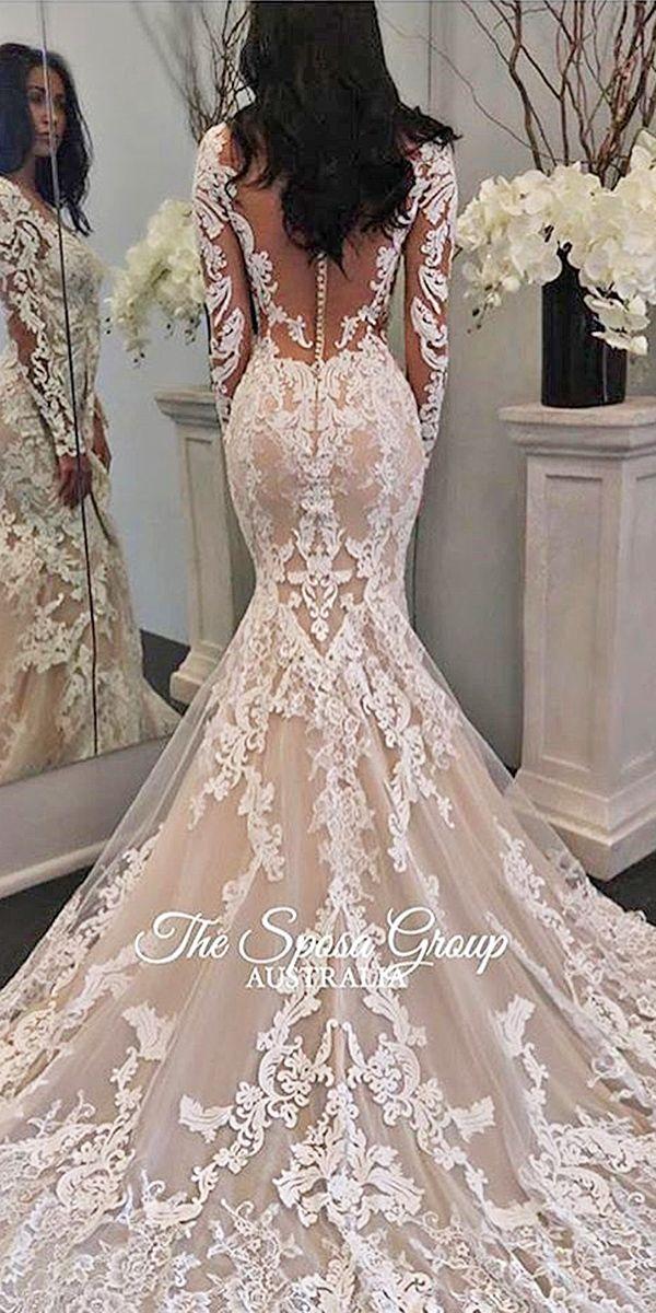 36 chic long sleeve wedding dresses wedding dress lace for Pinterest wedding dress lace