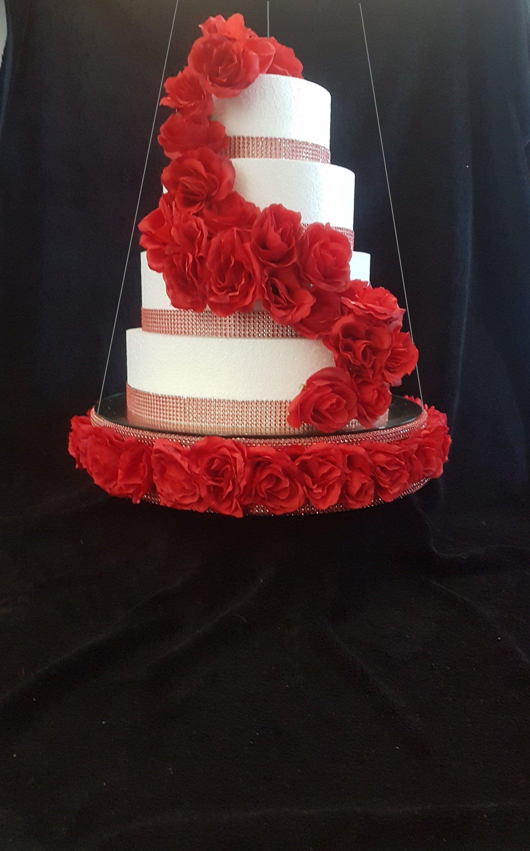 Cake Swing Suspended Rose Swing Cake Platform Rose Wedding Etsy Wedding Cake Roses Rose Wedding Suspended Wedding Cake