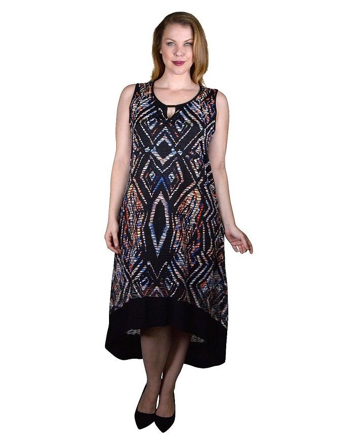 plus size abstract print midi dress is just 999