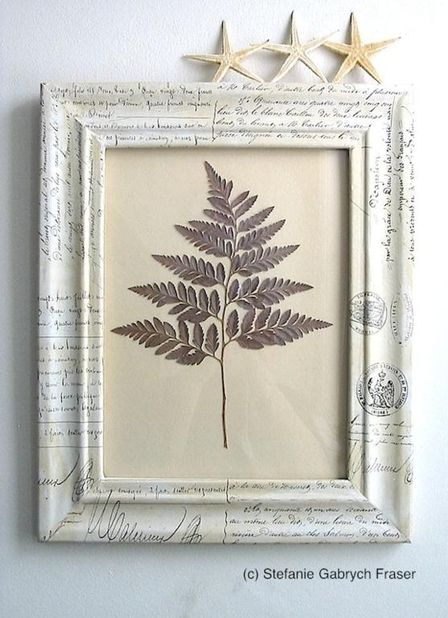 Decoupaged frame with pressed fern | DIY Crafts | Pinterest | Fern ...