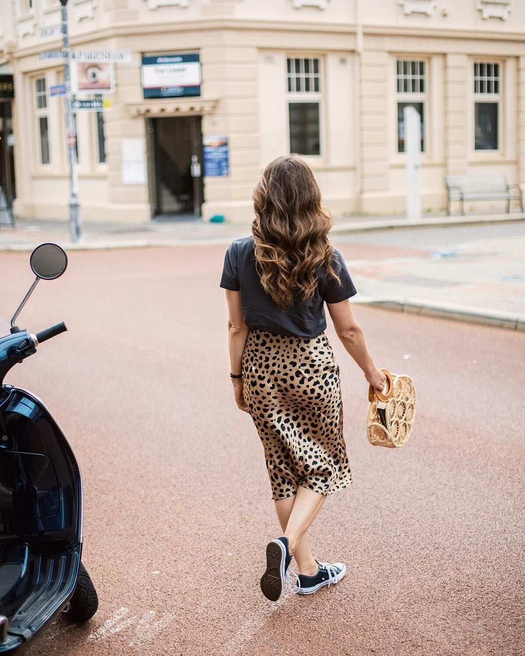 bc470f539488 Realisation Par The Naomi Wild Things skirt leopard print and Cult Gaia  round bag (@inspiringwit)