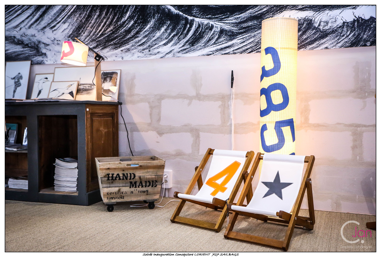 décoration du salon au concept store 727sailbags | concept store