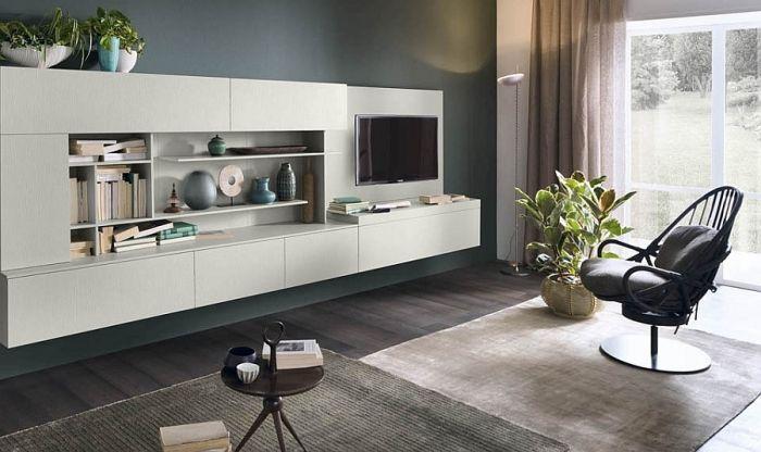 Stilvolle Wohnwand mit künstlerischer Freiheit kreiert - fernsehwand ideen moebel wohnzimmer