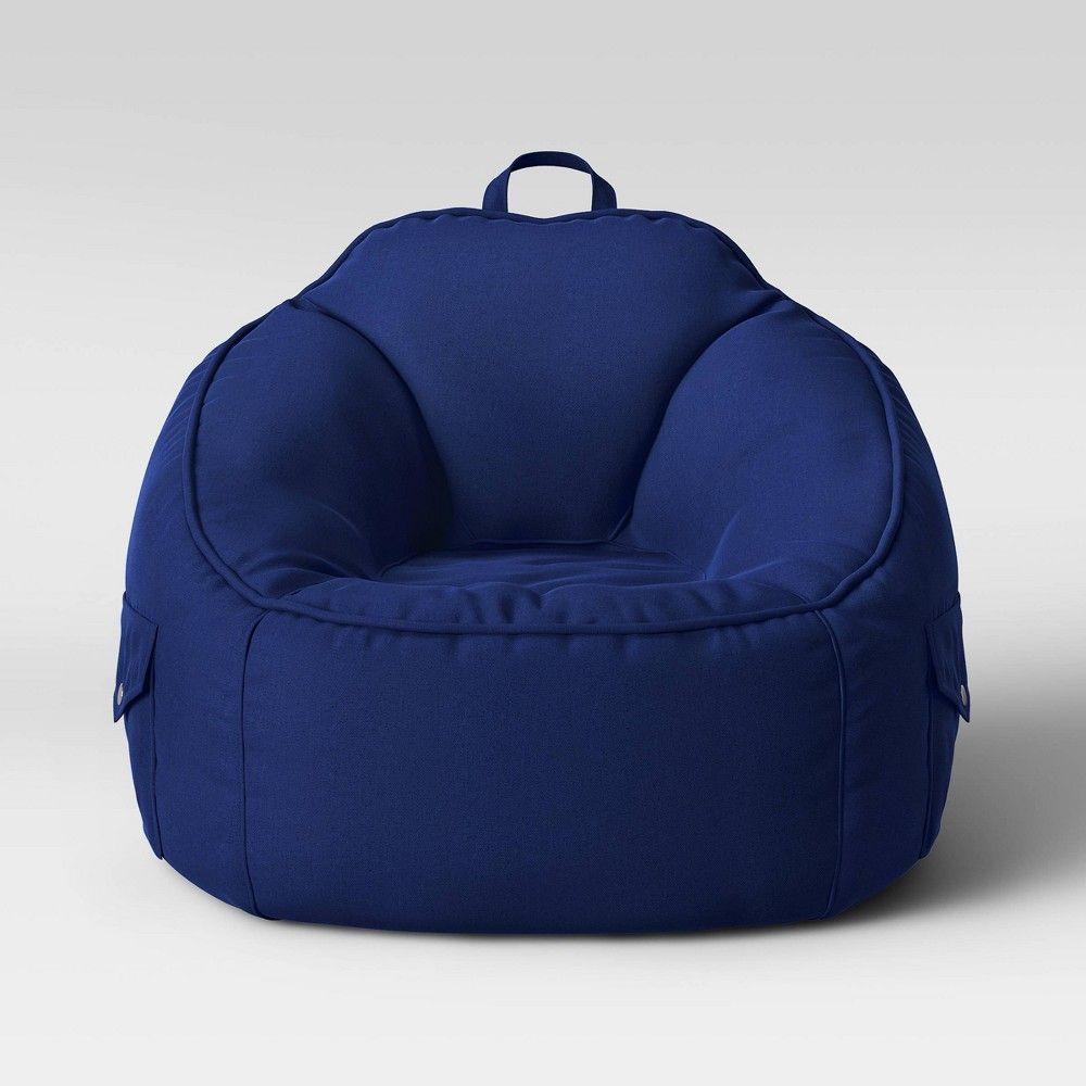Brilliant Canvas Bean Bag Chair Navy Pillowfort Machost Co Dining Chair Design Ideas Machostcouk