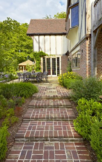 Leading From The Utility Room Porch And Garage A Path Will Take You Around The House Oak Framed Buildings Landscape Projects Garden Room