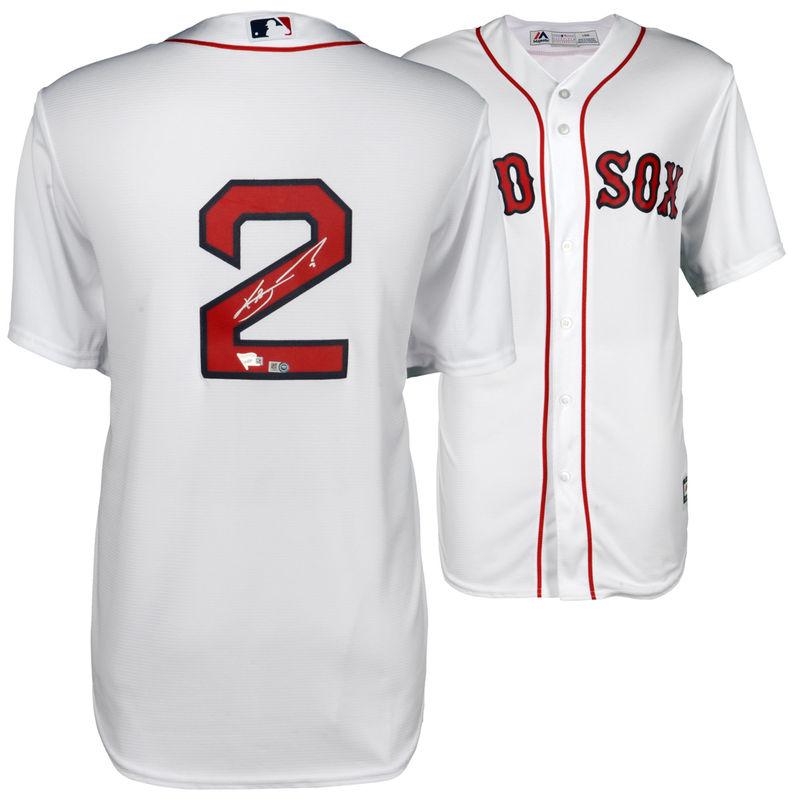 60b9cc23f Xander Bogaerts Boston Red Sox Fanatics Authentic Autographed Replica White  Jersey