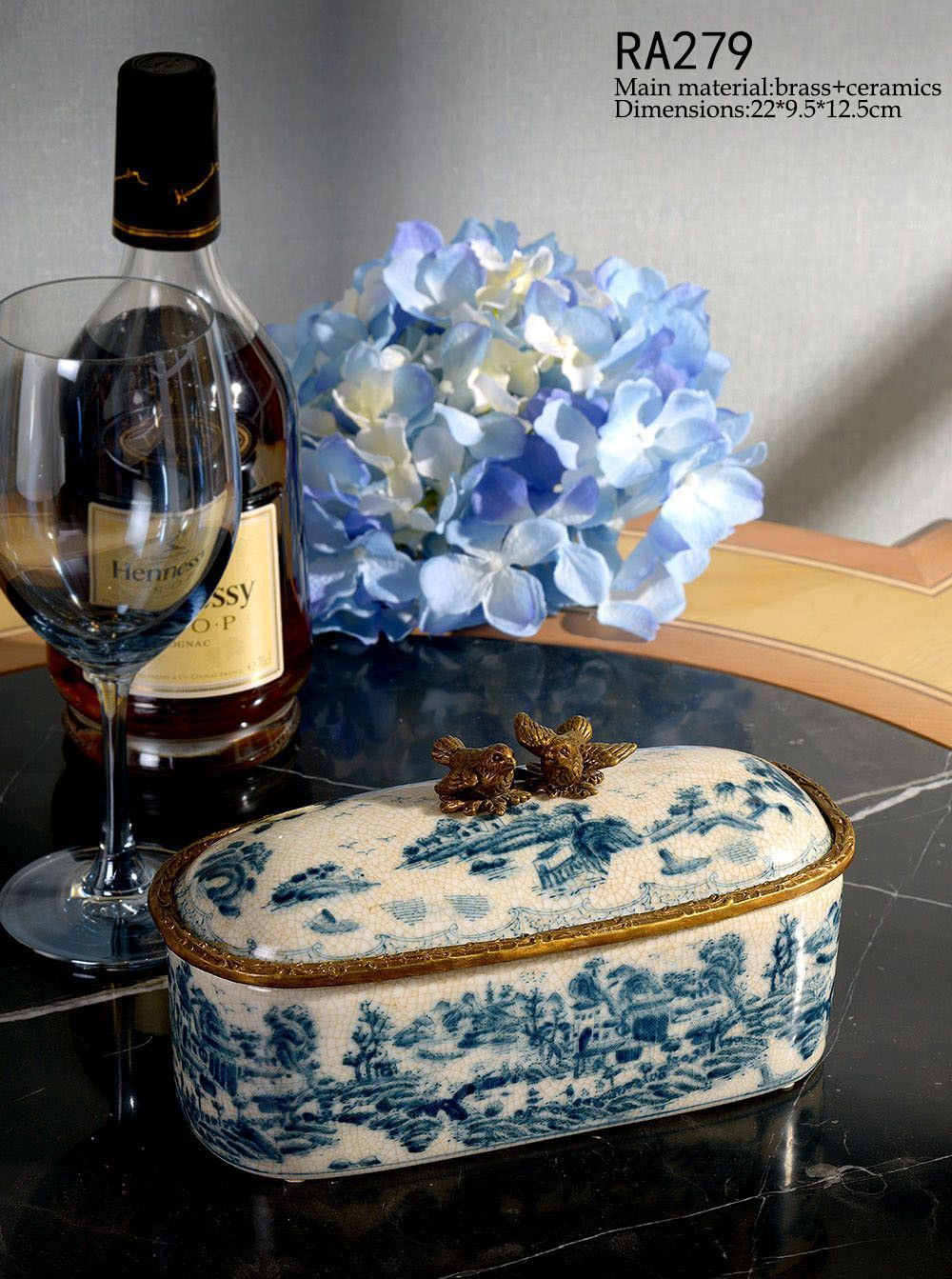 Decorative Oval Box