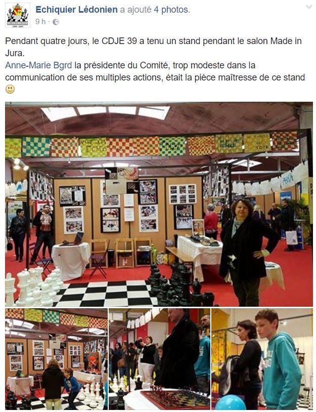 Le magnifique stand de l'échiquier lédonien au Salon Made in #Jura !