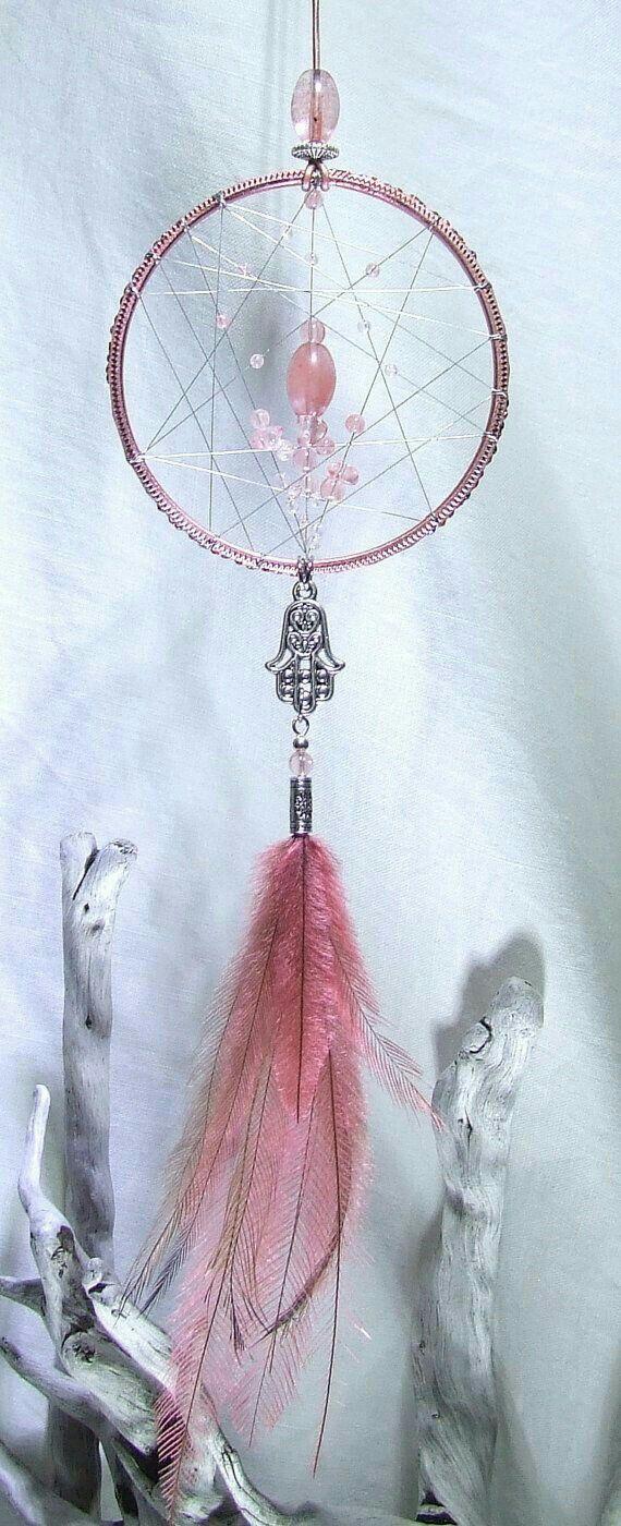 attrape r ves rose pale dream catcher attrape r ves ou capteur de r ves pinterest rose. Black Bedroom Furniture Sets. Home Design Ideas