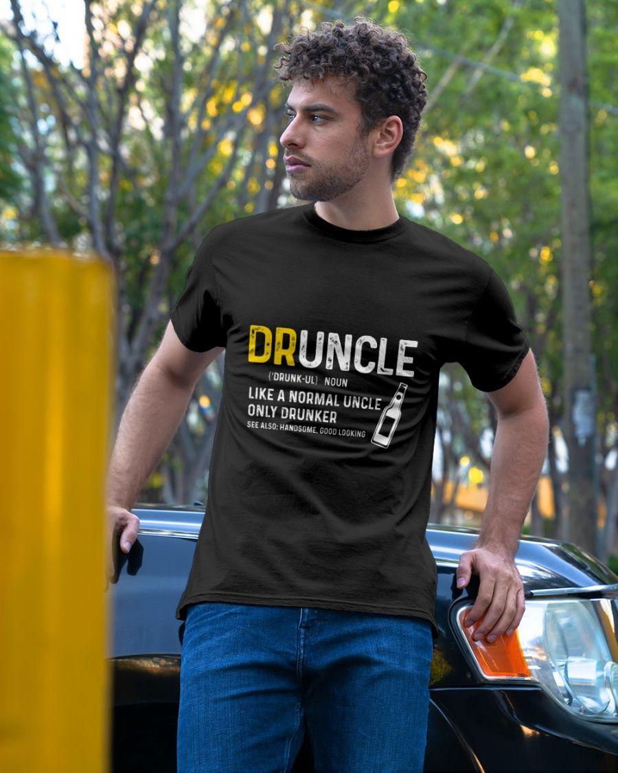 Beer Day is St Patricks Day Funny T Shirt Gift Druncle and Shamrock T Shirt Gift for Uncle is A Fan of Beer