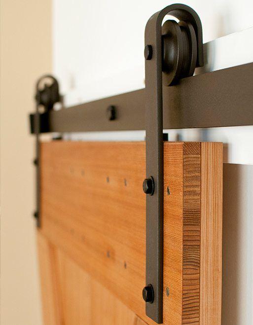 Classic Flat Track Sliding Barn Door Hardware Kit Door Hardware Diy Barn Doors Sliding Diy Barn Door Hardware Flat track barn door hardware