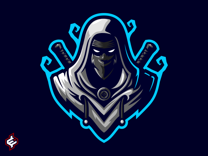 ( ROYALTY FREE ) Assassin / Ninja Mascot Logo Template