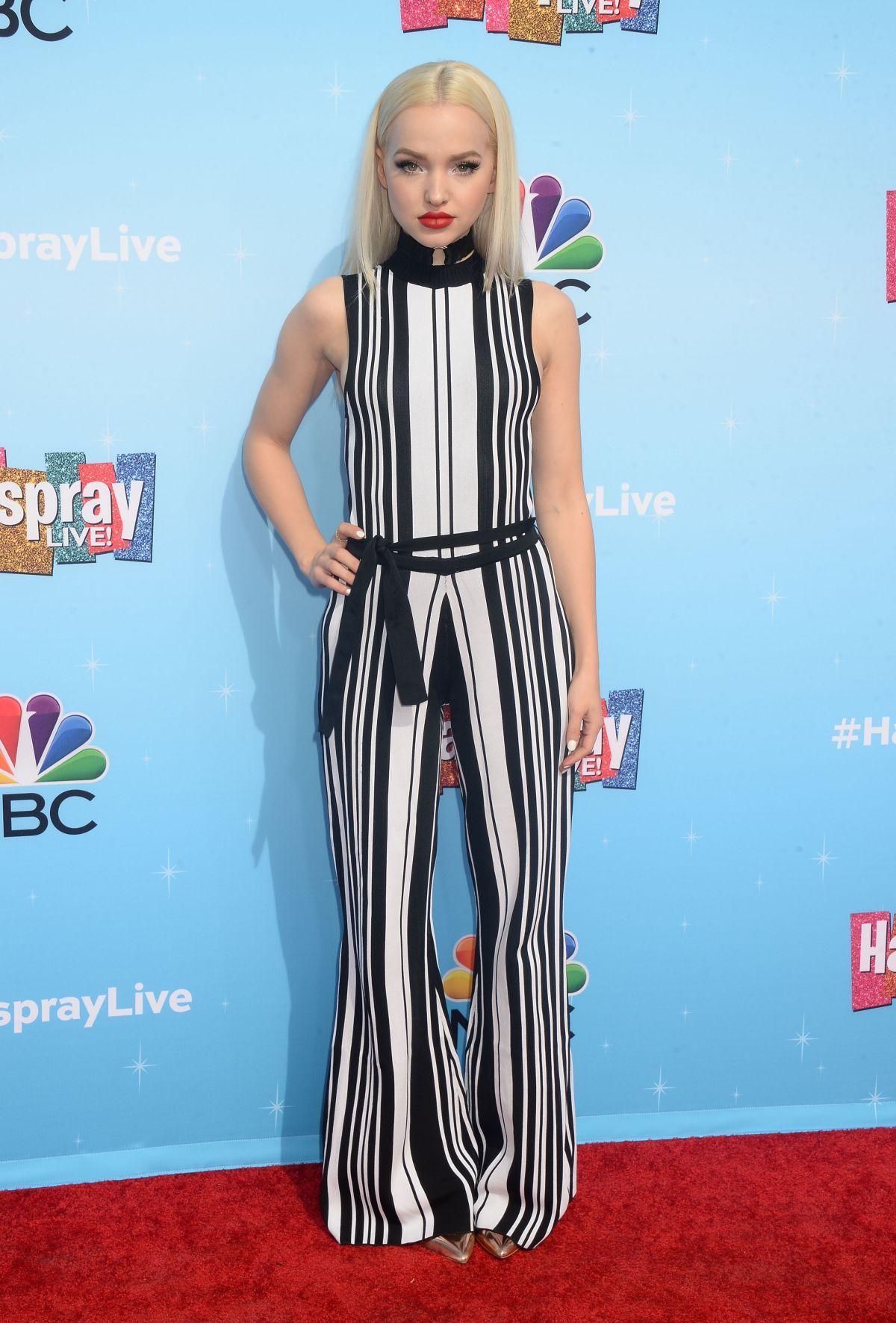 Dove Cameron at Hairspray Live! Press Junket in Los Angeles 11/16/2016