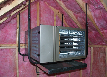 QuickSling W/ Pan Heating and air conditioning, Central