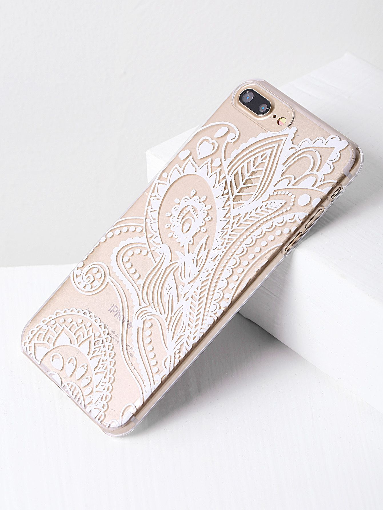 8f536d308b Shop Contrast Print Clear iPhone 7 Plus Case online. SheIn offers Contrast  Print Clear iPhone 7 Plus Case & more to fit your fashionable needs.