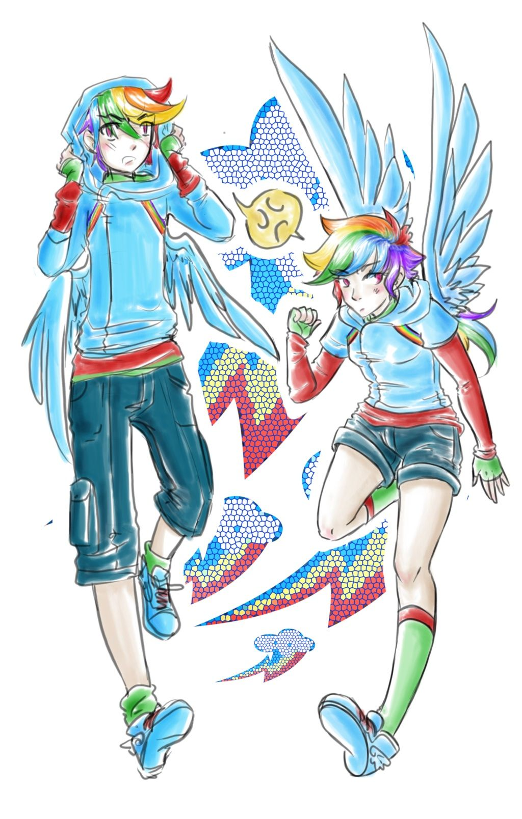 Rainbow Dash/anime Gender Bender