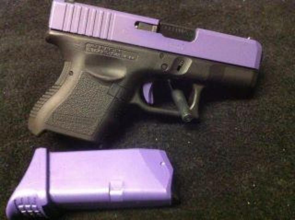 Love this! I think I will get my glock refinished in purple or light ...