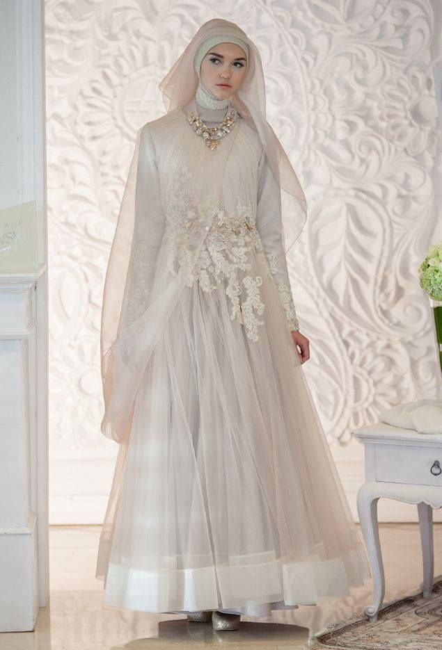 Simple gaun pinterest muslim gowns and muslim brides for Muslim wedding dresses with hijab
