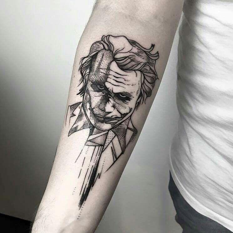 #MaríaFernández #tattoo #Joker #sleeve #artsy #sketch