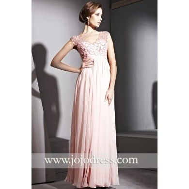 Pink V Neck Evening Gown CX881129 - Evening Gowns