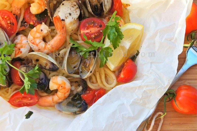 Seasaltwithfood: Seafood Pasta In Paper Bag