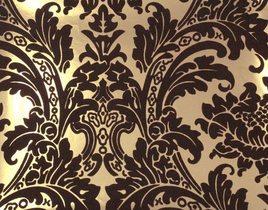 Best Brown And Gold Damask Wallpaper Black And Gold Damask 400 x 300