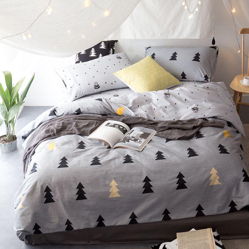 1b30a7946a18 Svetanya Leaves Print Sheet Pillowcase and Duvet Cover Sets 100% Cotton  Bedlinen Twin Double Queen King Size Bedding Set
