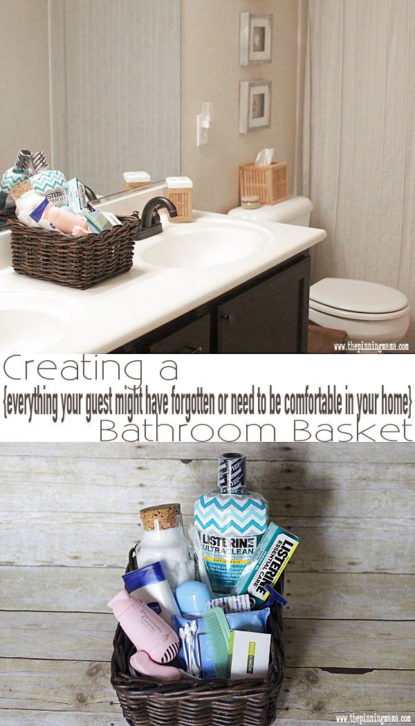 Having A Guest Basket For The Bathroom Genius This Blog Tells Everything You Would Want To Include Bathroom Baskets Guest Bathroom Essentials Guest Basket