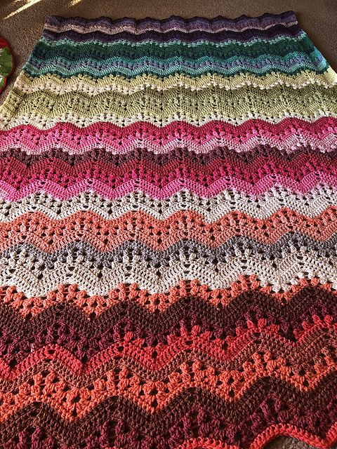 Easy 6 Day Kid Blanket Free Pattern Crochet Ripple