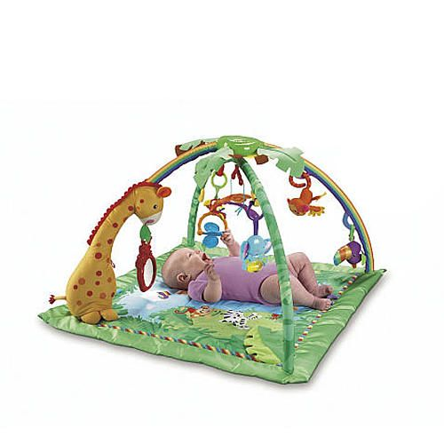 Play Time And Tummy Time Will Be Extra Fun With The Fisher Price Rainforest Melodies Lights Deluxe Gym Which Features 10 Baby Gym Fisher Price Baby Toys