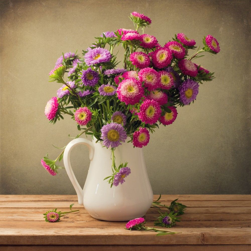 Delightful White Pot As Unusual Flower Vases With Colorful And Beautiful Flower Floral