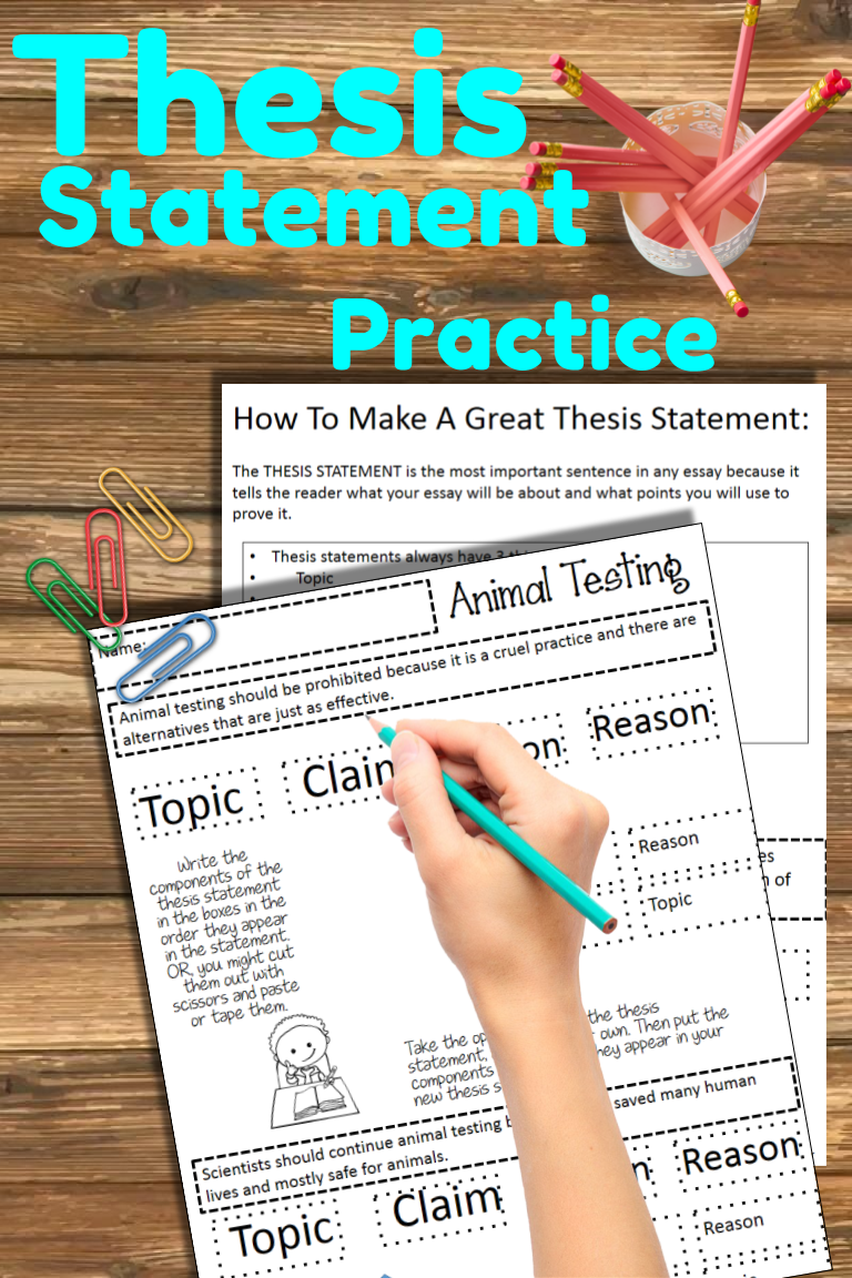 Teach middle school students how to write a strong thesis